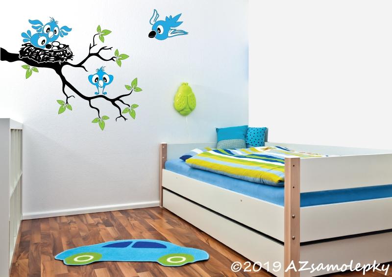 DĚTSKÉ samolepky na zeď - Dětské samolepky na zeď - Ptačí hnízdo