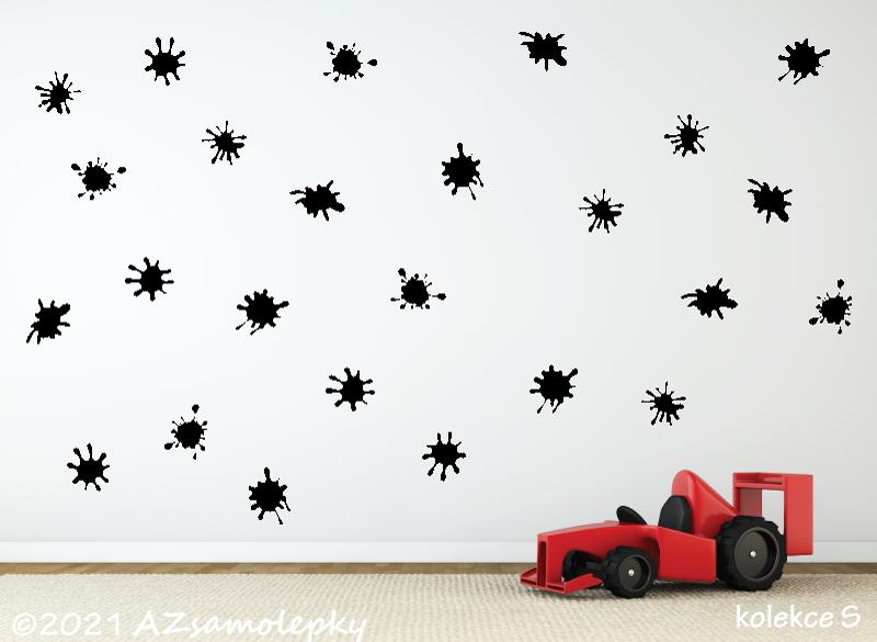 DĚTSKÉ samolepky na zeď - Dětské samolepky na zeď - Super kaňky
