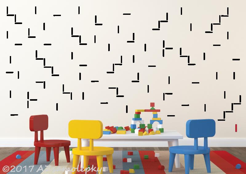 DĚTSKÉ samolepky na zeď - Dětské samolepky na zeď - Tyčinky