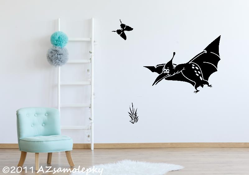 DĚTSKÉ samolepky na zeď - Dětské samolepky na zeď - Veselý pteranodon