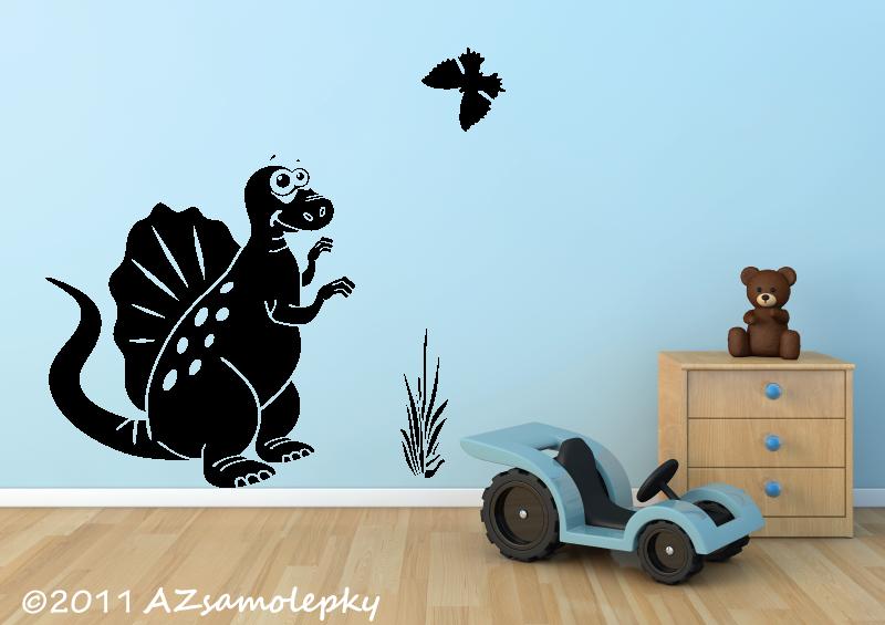 DĚTSKÉ samolepky na zeď - Dětské samolepky na zeď - Veselý spinosaurus
