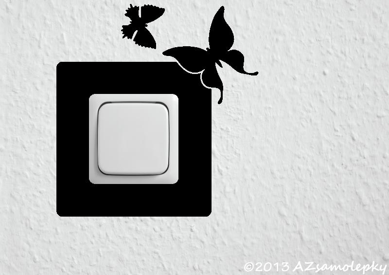 Samolepky pod VYPÍNAČ - Samolepky pod vypínač - Dva motýlci