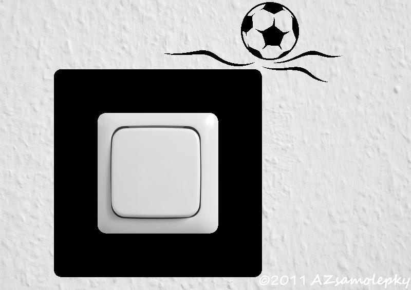 Samolepky pod VYPÍNAČ - Samolepky pod vypínač - Fotbalový míč