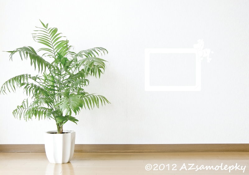 Samolepicí FOTOrámečky - Samolepky na zeď - Fotorámeček Zebra