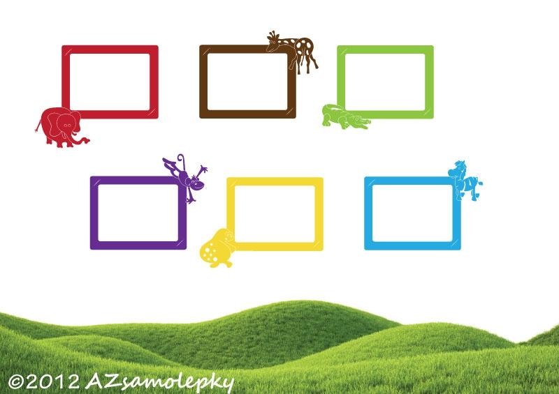 Samolepicí FOTOrámečky - Samolepky na zeď - Kolekce FOTO Zoo