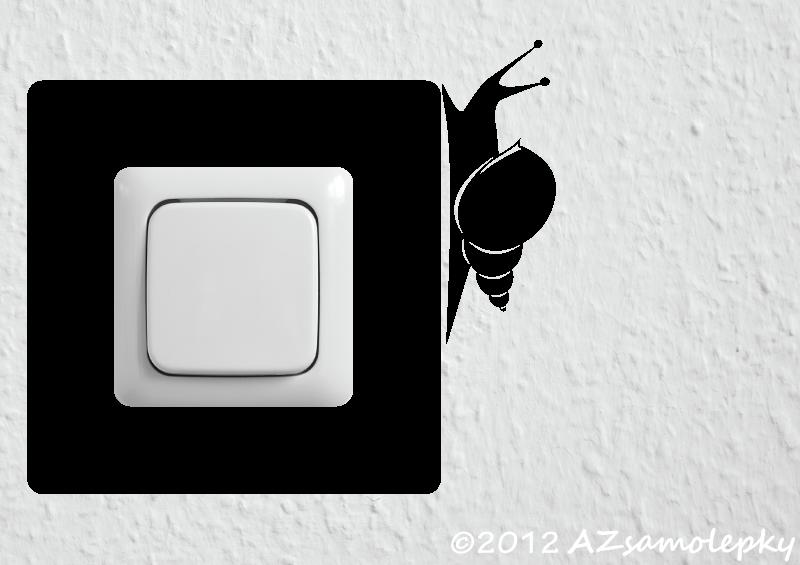 Samolepky pod VYPÍNAČ - Samolepky pod vypínač - Hlemýžď