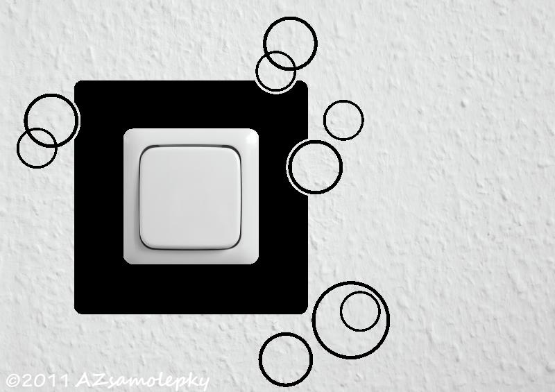 Samolepky pod VYPÍNAČ - Samolepky pod vypínač - Kruhy