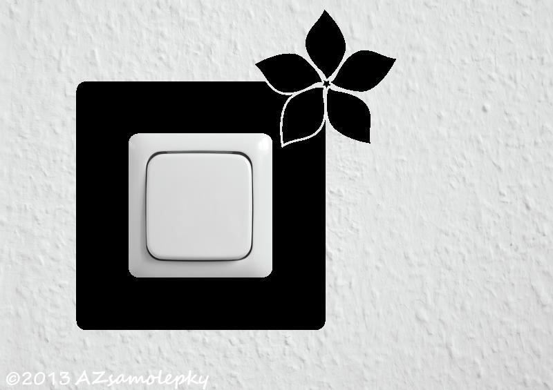 Samolepky pod VYPÍNAČ - Samolepky pod vypínač - Květina I