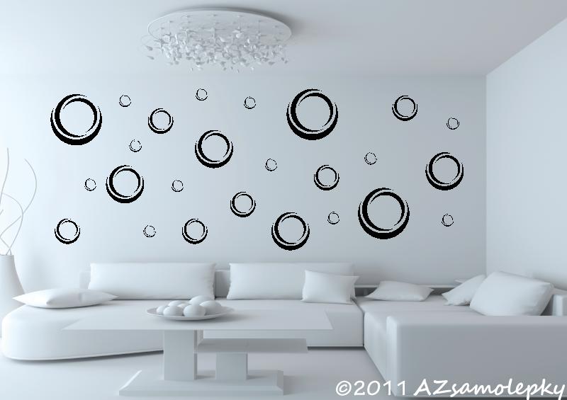MODERNÍ samolepky na zeď - Samolepky na zeď - Moderní bublinky
