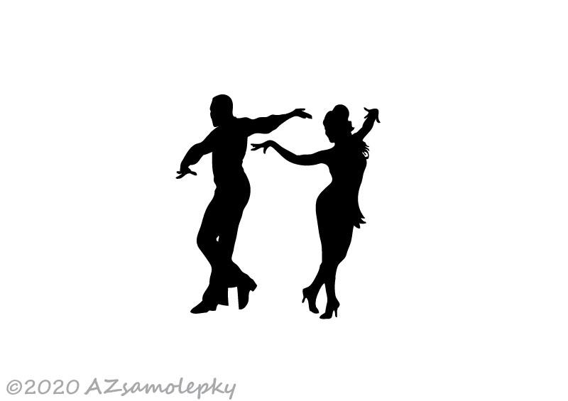 Samolepky na AUTO - NOVINKA - Samolepky na auto - Taneční pár