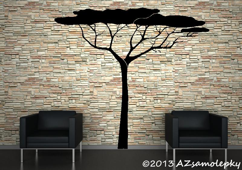 STROMY - samolepky na zeď - Samolepky na zeď - Africký strom