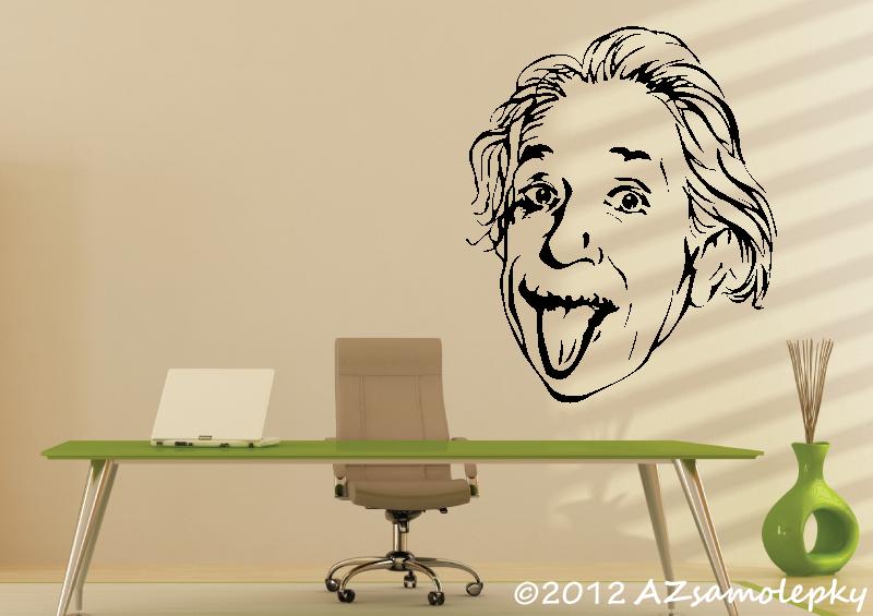 POSTAVY a OSOBNOSTI - Samolepky na zeď - Albert Einstein