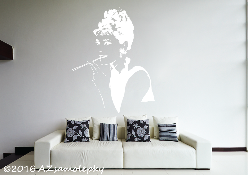 POSTAVY a OSOBNOSTI - Samolepky na zeď - Audrey Hepburn II.