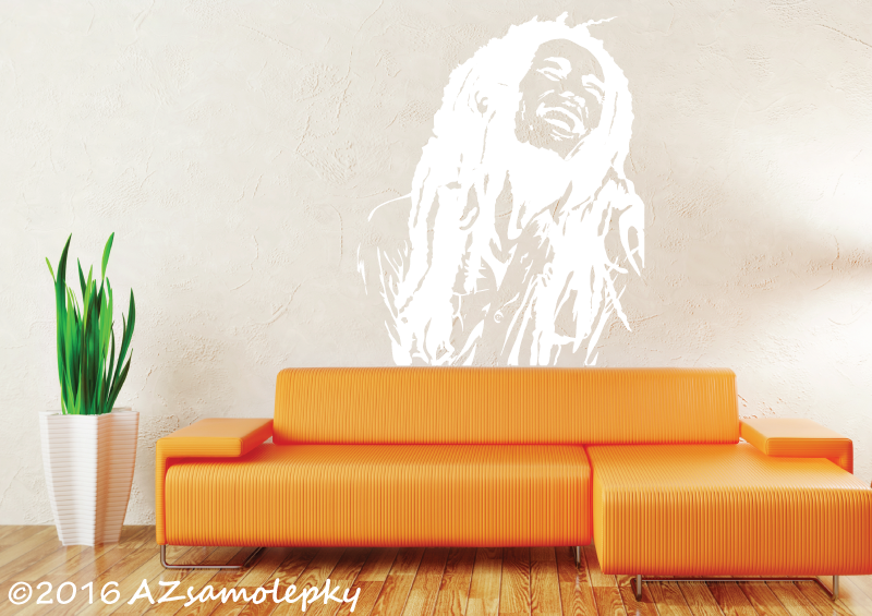 POSTAVY a OSOBNOSTI - Samolepky na zeď - Bob Marley