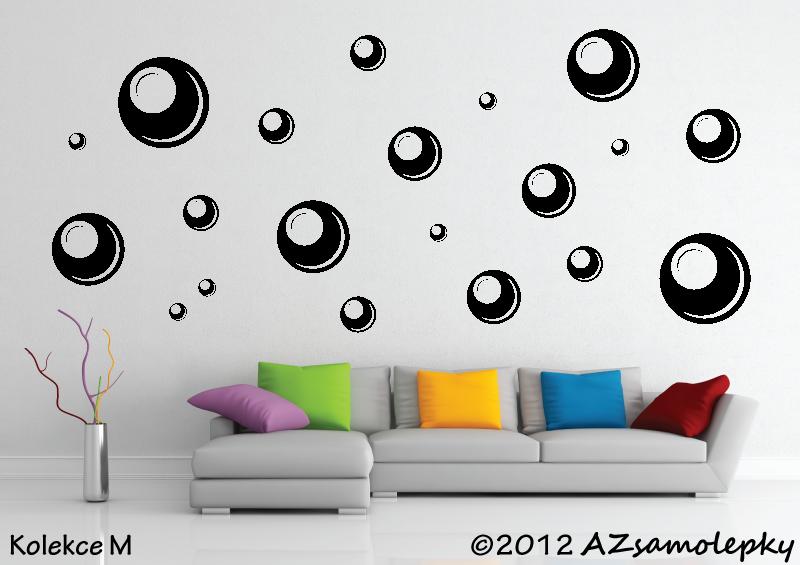 MODERNÍ samolepky na zeď - Samolepky na zeď - Bubble