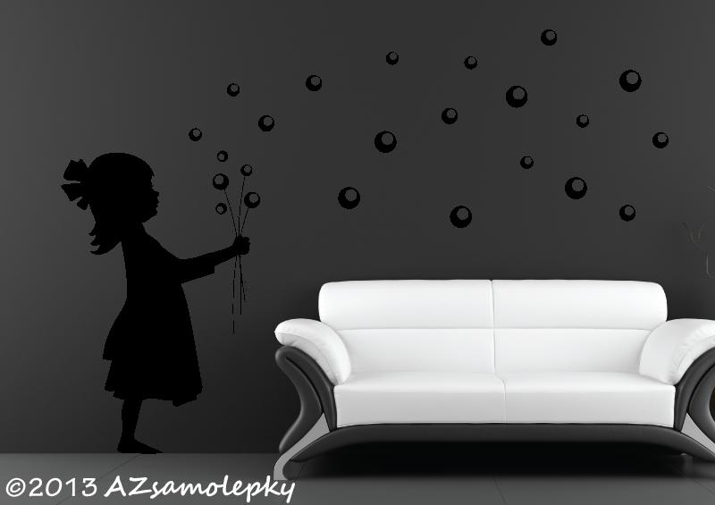POSTAVY a OSOBNOSTI - Samolepky na zeď - Bublinková holčička
