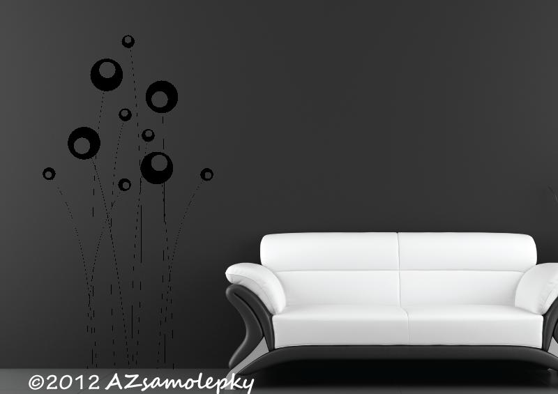 ROSTLINY - samolepky na zeď - Samolepky na zeď - Bublinkové tyčinky