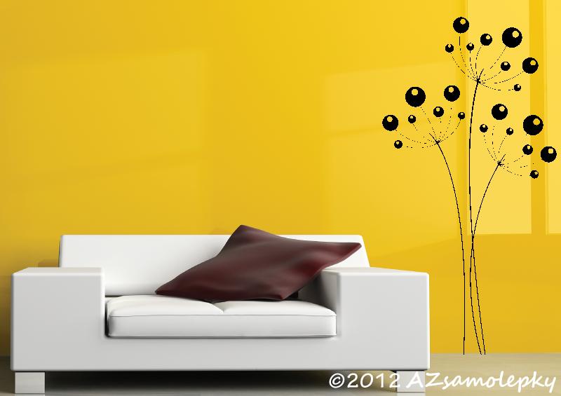 ROSTLINY - samolepky na zeď - Samolepky na zeď - Bublinkový kmín