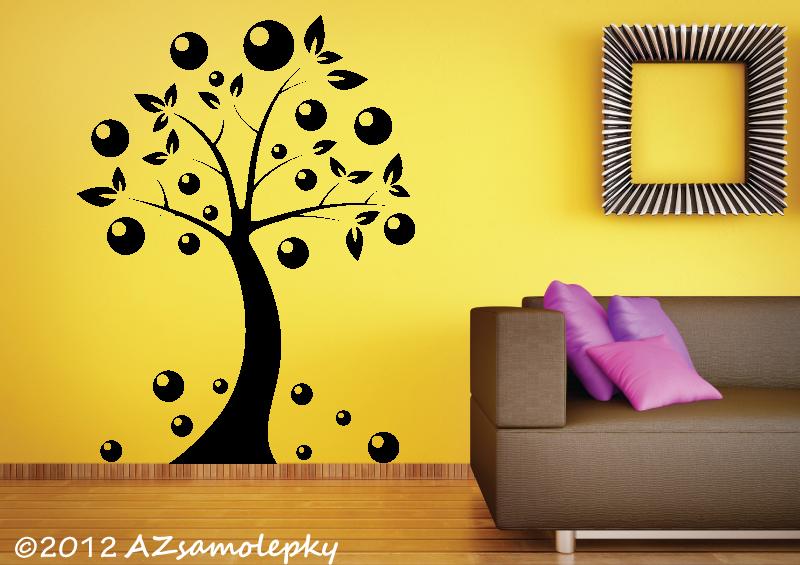 STROMY - samolepky na zeď - Samolepky na zeď - Bublinkový strom