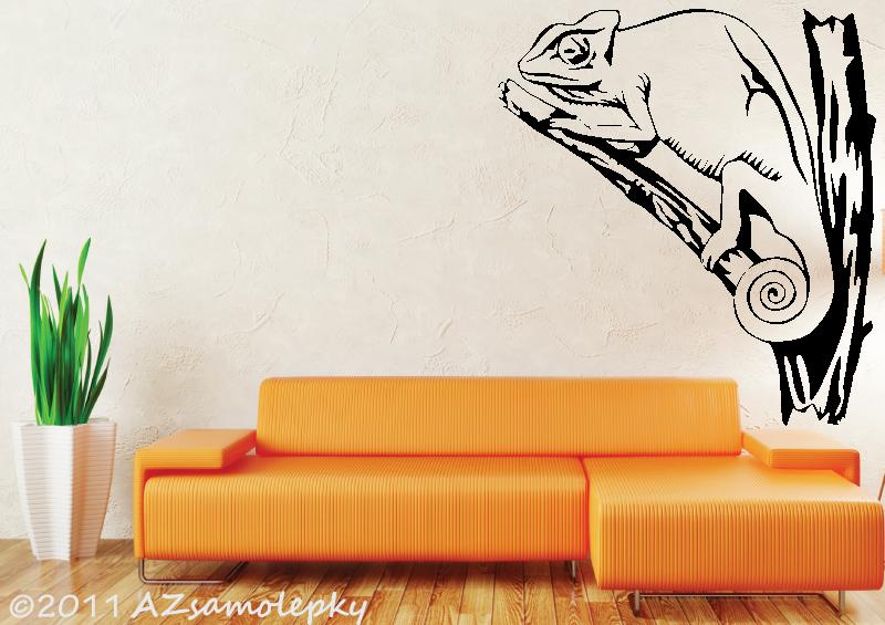 ZVÍŘATA - samolepky na zeď - Samolepky na zeď - Chameleon