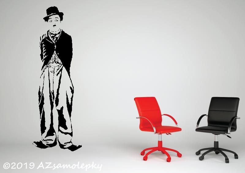 POSTAVY a OSOBNOSTI - Samolepky na zeď - Charlie Chaplin