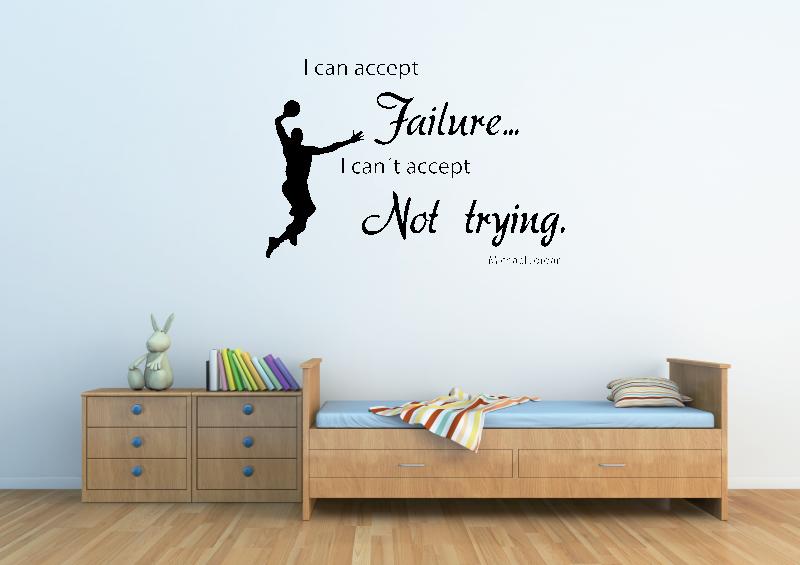 NÁPISY, CITÁTY, TEXTY a ZNAKY - Samolepky na zeď - Citát - Michael Jordan
