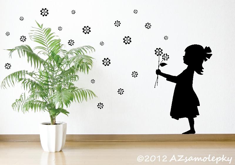 POSTAVY a OSOBNOSTI - Samolepky na zeď - Čtyřlístková holčička
