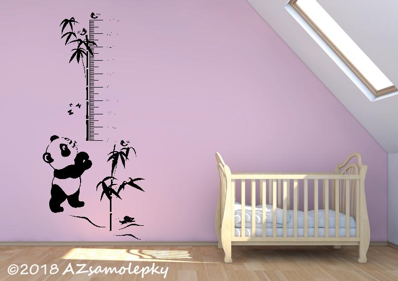 DĚTSKÉ samolepky na zeď - Samolepky na zeď - Dětský metr - Panda