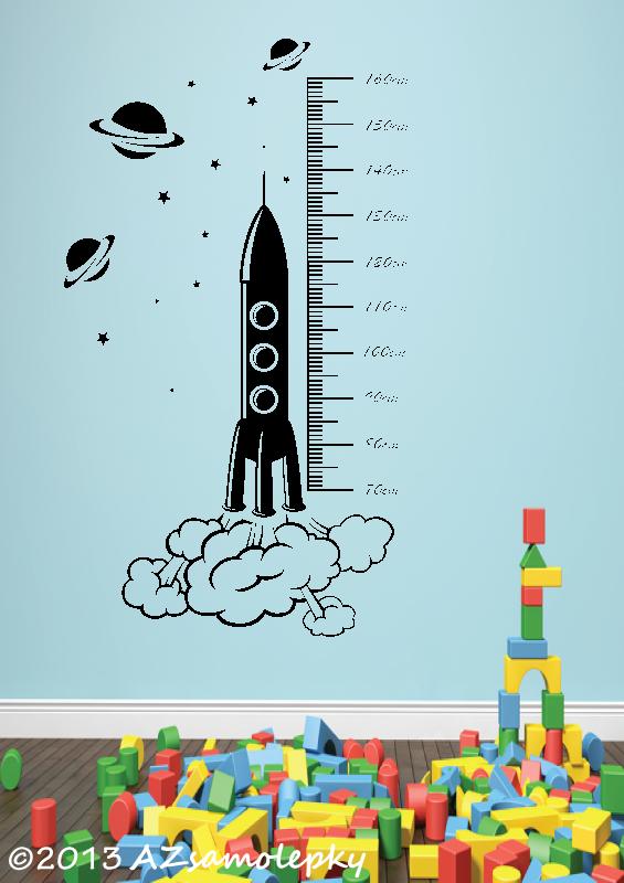 DĚTSKÉ samolepky na zeď - Samolepky na zeď - Dětský metr - Vesmír