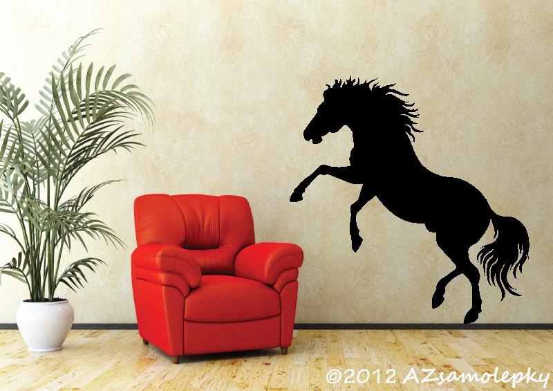 ZVÍŘATA - samolepky na zeď - Samolepky na zeď - Divoký kůň