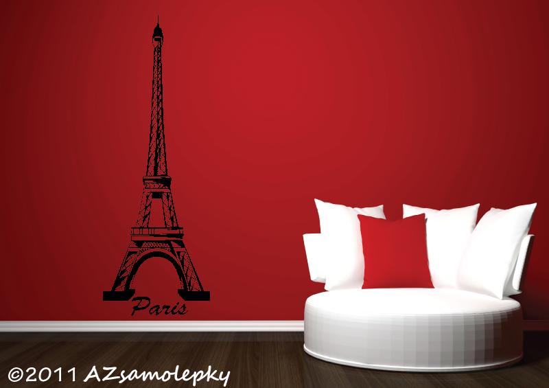 MĚSTA a MONUMENTY, MAPY - Samolepky na zeď - Eiffelova věž