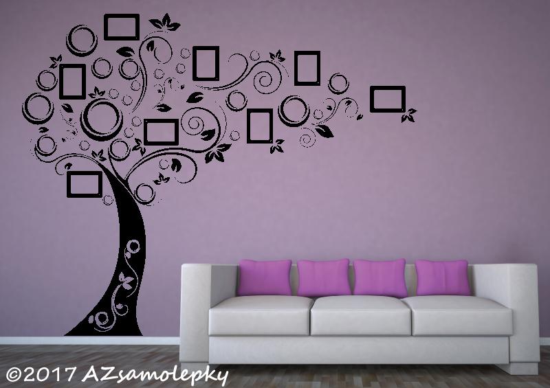 STROMY - samolepky na zeď - Samolepky na zeď - FOTO strom - moderní bublinky