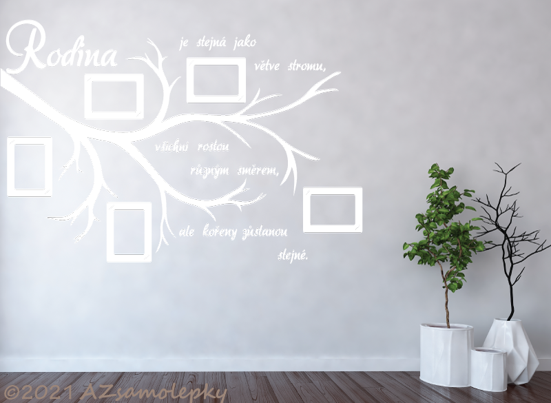 STROMY - samolepky na zeď - Samolepky na zeď - FOTO větvička Rodina