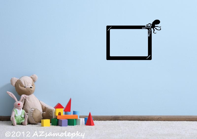 DĚTSKÉ samolepky na zeď - Samolepky na zeď - Fotorámeček Chobotnice