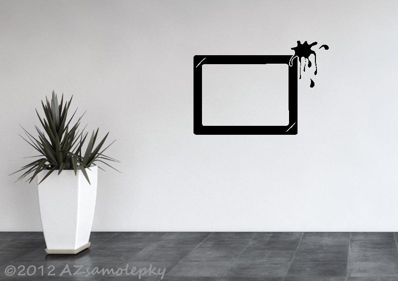 Samolepicí FOTOrámečky - Samolepky na zeď - Fotorámeček Kaňka V