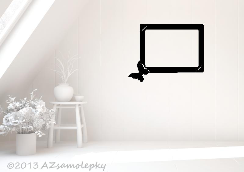 Samolepicí FOTOrámečky - Samolepky na zeď - Fotorámeček Motýlek I