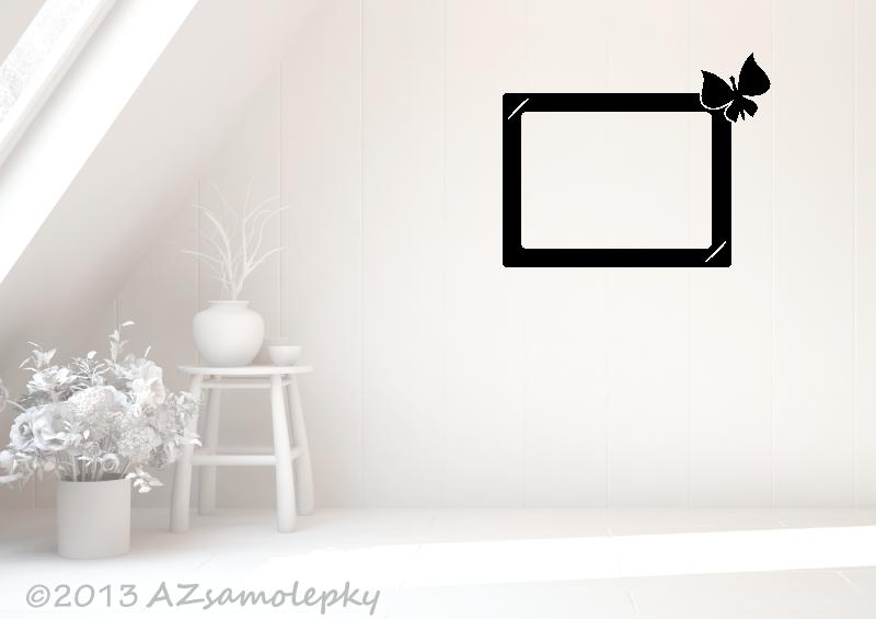 Samolepicí FOTOrámečky - Samolepky na zeď - Fotorámeček Motýlek II