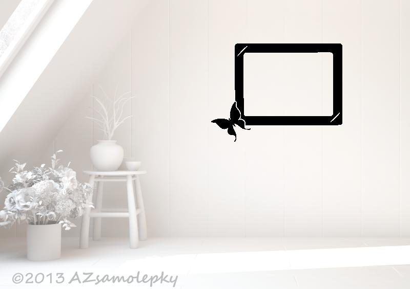 Samolepicí FOTOrámečky - Samolepky na zeď - Fotorámeček Motýlek III
