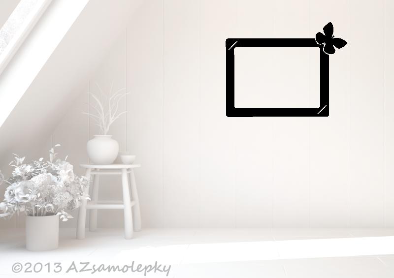 Samolepicí FOTOrámečky - Samolepky na zeď - Fotorámeček Motýlek IV
