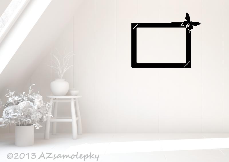 Samolepicí FOTOrámečky - Samolepky na zeď - Fotorámeček Motýlek VI