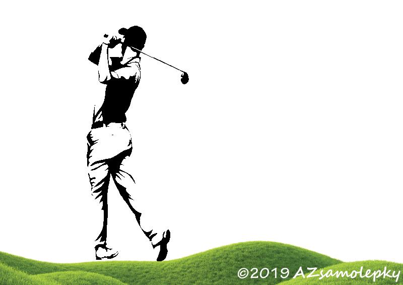 SPORT a ZÁJMY - samolepky na zeď - Samolepky na zeď - Golfista