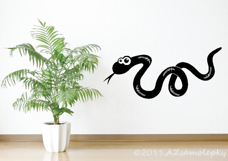 ZVÍŘATA - samolepky na zeď - Samolepky na zeď - Had