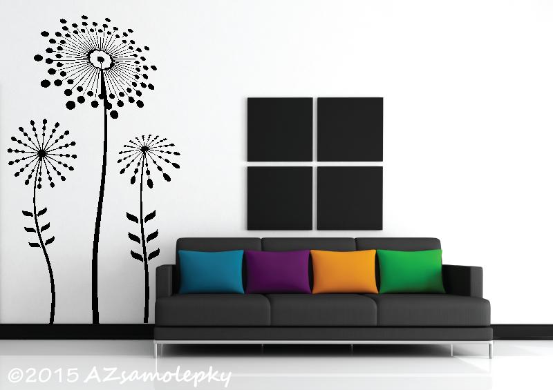 ROSTLINY - samolepky na zeď - Samolepky na zeď - HIT květy