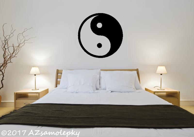 MODERNÍ samolepky na zeď - Samolepky na zeď - Jin a jang, yin yang