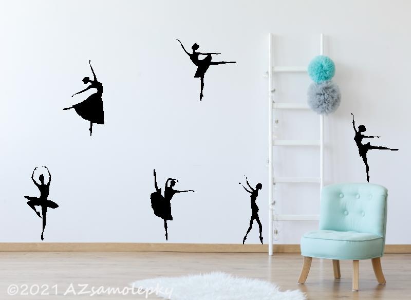 SPORT a ZÁJMY - samolepky na zeď - Samolepky na zeď - Kolekce baletek
