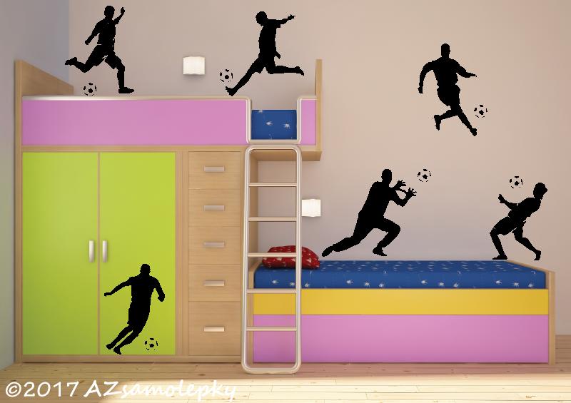 SPORT a ZÁJMY - samolepky na zeď - Samolepky na zeď - Kolekce fotbalistů