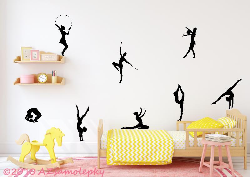 SPORT a ZÁJMY - samolepky na zeď - Samolepky na zeď - Kolekce gymnastek