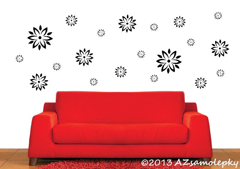 ROSTLINY - samolepky na zeď - Samolepky na zeď - Kolekce květů III