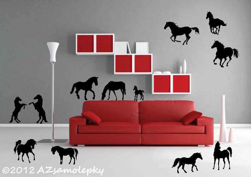 ZVÍŘATA - samolepky na zeď - Samolepky na zeď - Koně