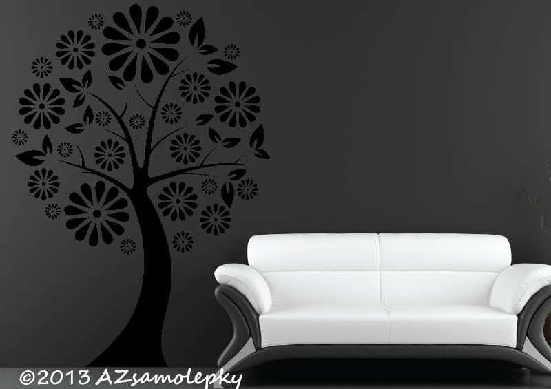 STROMY - samolepky na zeď - Samolepky na zeď - Kopretinový strom